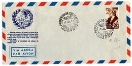 Carta Con Matasellos Primer Dia Circulacion De 1952 Via Aerea. - Ifni