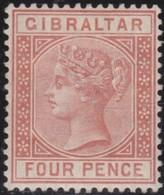 Gibraltar .   SG   .  12     .   .   *      .   Mint-hinged     .    /    .  Ongebruikt - Gibraltar