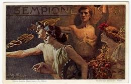 SEMPIONE 1906 - CARTOLINA COMMEMORATIVA - ILL. BELTRAME - ESPOSIZIONE INTERNAZIONALE - Vedi Retro - Formato Piccolo - Esposizioni