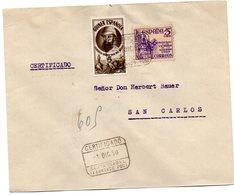 Carta Con Matasellos Certificado  Fernando Poo 1950  Sellos De Guinea. - Guinea Española