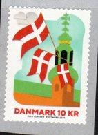 DENMARK, 2019, MNH,FLAGS, COIL,1v - Stamps