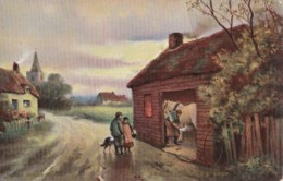 AN94 Social History Postcard - The Blacksmith's Shop - Craft