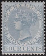 Ceylon     .     SG      .  122.   .    *       .    Mint-hinged    .    /    .   Ongebruikt - Ceylon (...-1947)