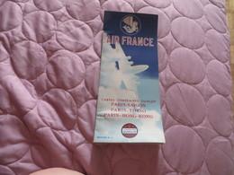 AIR FRANCE ,cartes Itinéraires DUNLOP ,,, PARIS-SAIGON ,,, PARIS-TOKIO,,,PARIS-HONG-KONG - Advertisements