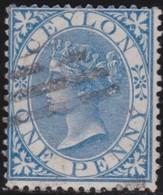 Ceylon     .     SG      .   61     .      O    .   Cancelled    .    /    .   Gebruikt - Ceylon (...-1947)
