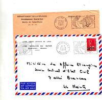Lettre Flamme Saint Denis  Reunion Theatre - Postmark Collection (Covers)