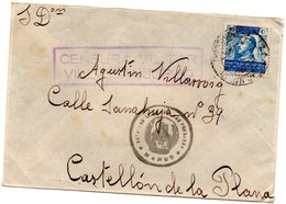 Carta Con Matasellos Censura Militar De Villa  San Jurjo  Marruecos - Marruecos Español