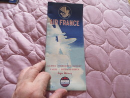 AIR FRANCE ,cartes Itinéraires DUNLOP ,,,PARIS BUENOS-AIRES - Advertisements