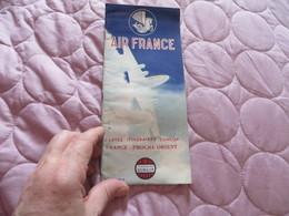 AIR FRANCE ,cartes Itinéraires DUNLOP ,,,FRANCE PROCHE-ORIENT - Advertisements