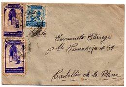 Carta Con Matasellos Marruecos Dirijida A Castellon De La Plana. - Marruecos Español