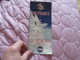 AIR FRANCE ,cartes Itinéraires DUNLOP ,,PARIS NEW YORK MEXICO - Advertisements