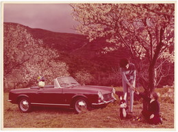 """AUTOMOBILE FIAT   """" 1500 SPIDER """" -  DONNA - FOTO ORIGINALE GRANDI DIMENSIONI - Automobiles"""