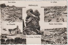 Loire  Atlantique : PREFAILLES  : Vue  , Port Meleu , Plage , Pointe  St  Gildas , La  Chapelle - Préfailles