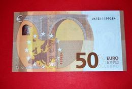 50 EURO FRANCE - U013B1 - UA1311199284 - UNC DRAGHI - EURO