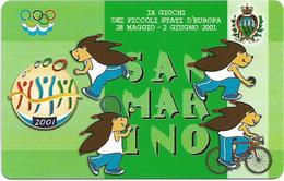 San Marino - IX Giochi Dei Piccoli Stati D'Europa - 2.000L, 10.000ex, 28.05.2001, Mint - Saint-Marin