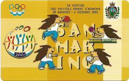 San Marino - IX Giochi Dei Piccoli Stati D'Europa - 3.000L, 10.000ex, 28.05.2001, Mint - Saint-Marin