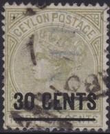 Ceylon     .     SG      .    191       .      O    .   Cancelled    .    /    .   Gebruikt - Ceylon (...-1947)
