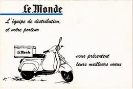 CARTE PUB - Le Journal LE MONDE Présentant Ses Meilleurs Voeux - Très Rare - - Werbepostkarten