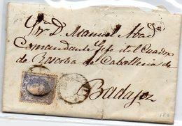 Carta Dirigida A Badajoz 1870 - 1870-72 Regencia