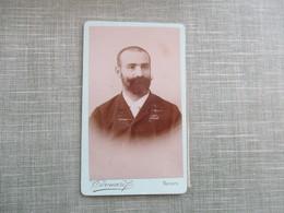 CDV ANCIEN PHOTO HOMME BARBU 58 NEVERS PHOTO EDOUARD - Oud (voor 1900)