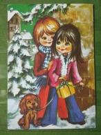 Kov 8-133 - New Year, Bonne Annee, Children, Enfant Et Chien, Dog - Nouvel An