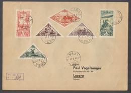 Tannu Tuva. 1937 (11 Feb). Kizil - Switzerland, Luzern (25 Feb). Reg Multifkd Env Arrival Cachet Cds Swiss PO Sent By So - Tuva
