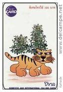 Thailand Phonecard TOT New Nr. 201 Tiger Animal Chin New Year Zodiac RR - Thaïland