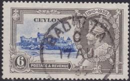 Ceylon     .     SG      .   329   Broken Flagstaff       .      O    .   Cancelled    .    /    .   Gebruikt - Ceylon (...-1947)