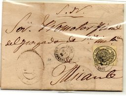 Carta Con Matasellos Elche (Alicante). - 1850-68 Reino: Isabel II