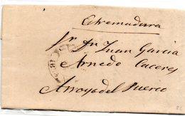Carta Prefilatelica  Dirigida A Arroyo Del Puerco (caceres) - España