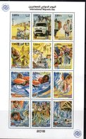 LIBYA, 2018, MNH,INTERNATIONAL MIGRANTS DAY, SHIPS, BOATS, TRUCKS, IMMIGRANTS, SHEETLET - Stamps