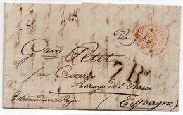 Carta Prefilatelica  Dirigida A Arroyo Del Puerco (caceres) Procedente De Bayona. - Espagne