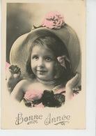 ENFANTS - LITTLE GIRL - MAEDCHEN - Jolie Carte Fantaisie Portrait Fillette Avec Joli Chapeau - Portraits
