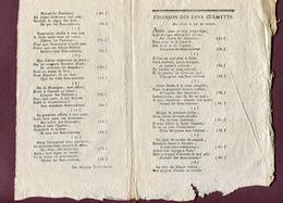 """"""" CHANSON DES SANS CULOTTES """" Par Aristide VALCOUR  1793  ( Musique - Partition ) - Documents Historiques"""