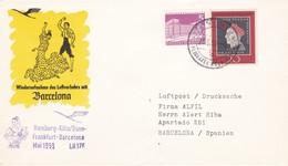 LUFTHANSA, Vol Inaugural  LH 176, Hambourg-Bonn-Frankfurt-Barcelona, 25 Mai 1959 - Europe