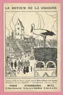 """Carte Signée HANSI - JJ WALTZ - """" Le Retour De La Cigogne """" - Revue D' Alsace / Lorraine - Voir état - Voir Description - Hansi"""