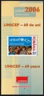 Romania 2006 / UNICEF 60 Years / Prospectus, Leaflet, Brochure - 1948-.... Républiques