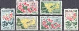 """Gabon YT 153 à 158 """" Fleurs """" 1961 Neuf** - Gabon (1960-...)"""