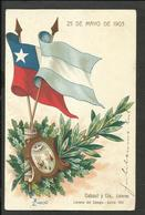 ARGENTINA -CHILE FLAGS 1903 VERY FINE - Chili