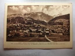 Carte Postale Mont Saxonnex (74)Le Bourgeal - Col D'Ancrenaz - Le Bargy (Petit Format Noir Et Blanc Non Circulée ) - Autres Communes