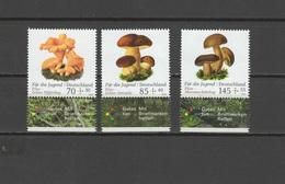 Germany 2018 Mushrooms Set Of 3 MNH - Champignons