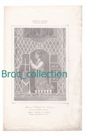Mahaut, Comtesse De Bologne, Vitrail De Chartres, France, XIIIe S., Gravure D'Augustin François Lemaître, Vernier - Estampes & Gravures