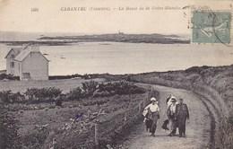 Finistère - Carantec - La Route De La Grève-Blanche Et L'Ile Callot - Carantec