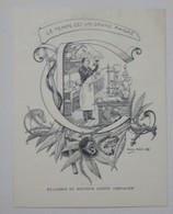 Ex-libris Illustré Français Fin XIXème - Docteur Joseph CHEVALIER - Ex-libris