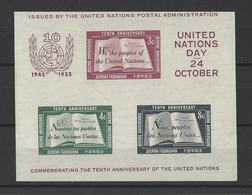 NATIONS UNIES.  YT  Bloc N° 1  Neuf **  1955 - New-York - Siège De L'ONU