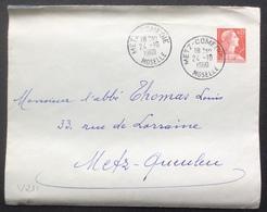 V211 0,25 Marianne Muller Metz-Comédie Moselle 24/10/1960 - Cartes Postales Repiquages (avant 1995)