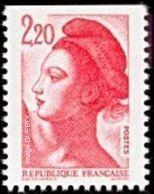 France Liberté De Gandon N° 2427 ** Le  2.20 Frs Dentelés 3 Cotés, Haut ND.- Emission De Carnet - 1982-90 Liberté De Gandon