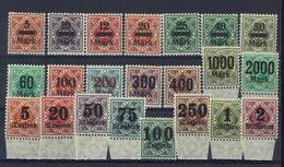 Allemagne - 1923 - Service N° 151 à 172 - Neufs Sans Charnières - XX - TTB - - Wurtemberg