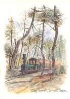 33  Bassin D' Arcachon - Cap Ferret - Le Petit Train - Aquarelle De Robert Lepine U 1408 - Arcachon