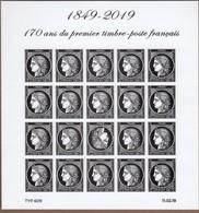 BLOC FEUILLET 1849-2019 170ème Anniversaire Du 1er Timbre De France (ND Avec Tête Bêche) CERES NEUF** TRES BEAU VOIR. - Sheetlets